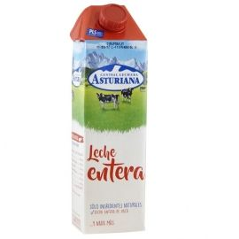 Leche entera Asturiana 1 litro pack 6 bricks