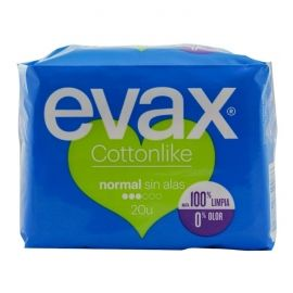 Compresas sin alas normal cottonlike  Evax 20 ud