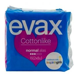 Compresas normal con alas Evax cottonlike 16 ud