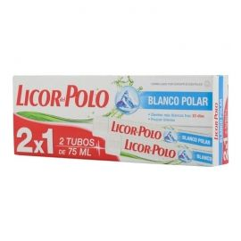 Dentífrico Licor del Polo blanco polar 75 ml