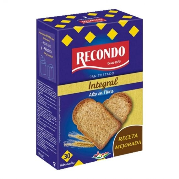 Pan tostado Recondo integral 270 g