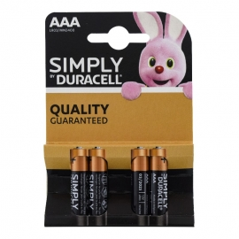 Pilas AAA Simply Duracell 4 ud